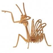 Dřevěné 3D puzzle dřevěná skládačky hmyz - Kudlanka E019