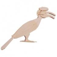 Dřevěné 3D puzzle dřevěná skládačka hmyz -Pták Hornbill E034