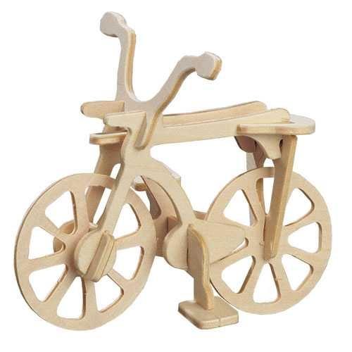 Dřevěné 3D puzzle auta - dřevěná skládačka - Kolo HA205