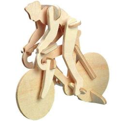 Dřevěné 3D puzzle - Závodní Kolo s cyklistou HA206