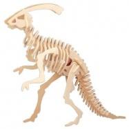 Dřevěné 3D puzzle dinosauři - malý Parasaurolophus J003