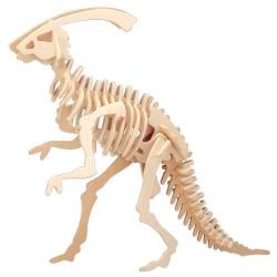 Drevené 3D puzzle dinosaury - malý Parasaurolophus J003