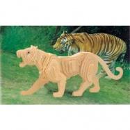 Dřevěné 3D puzzle dřevěná skládačka zvířata - Tygr M003