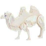 Dřevěné 3D puzzle dřevěná skládačka zvířata - Velbloud M036