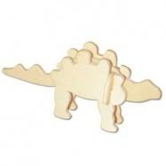 Dřevěná mini skládačka - dinosauři Stegosaurus MA1043