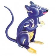 Dřevěné 3D puzzle dřevěná skládačka zvířata - Myš MC001