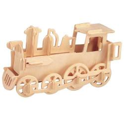 Drevené 3D puzzle drevená skladačka - malá Lokomotíva P005