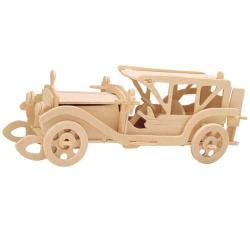 Drevené 3D puzzle drevená skladačka autá - Sunbeam P017