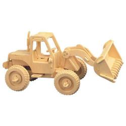 Drevené 3D puzzle drevená skladačka - Nakladač P029