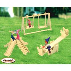 Drevené skladačky 3D puzzle - Ihrisko P036
