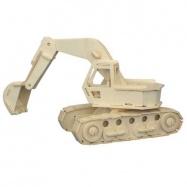 Dřevěné 3D puzzle dřevěná skládačka auta - Bagr P043