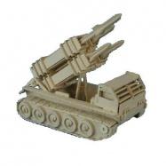 Dřevěné 3D puzzle dřevěná skládačka auta - Raketomet P052