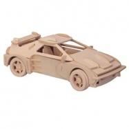 Dřevěné 3D puzzle dřevěná skládačka auta C