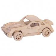 Drevené 3D puzzle drevená skladačka autá malé Porsche P066a