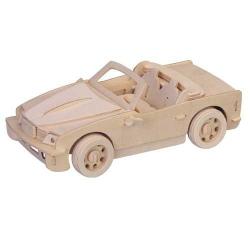 Dřevěné 3D puzzle - dřevěná skládačka auta - malé BMW P067a