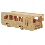 Drevené 3D puzzle drevená skladačka autá - Autobus P092