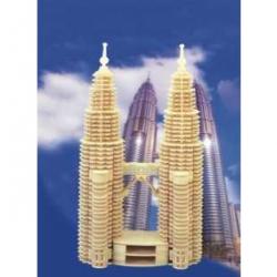 Drevené skladačky 3D puzzle - Petronas Twin Towers P102