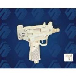 Drevené skladačky 3D puzzle - Pištoľ UZI P118