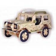 Dřevěné 3D puzzle - dřevěná skládačka auta - Jeep P123