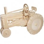 Dřevěné 3D puzzle dřevěná skládačka auta - Traktor P136