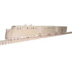 Dřevěné 3D puzzle - dřevěná skládačka - Vlak P139