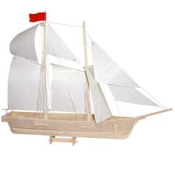 Drevené 3D puzzle lode - drevená skladačka - Loď škuner P150