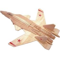 Drevené skladačky 3D puzzle - Stíhačka SU-4 Berkut P155