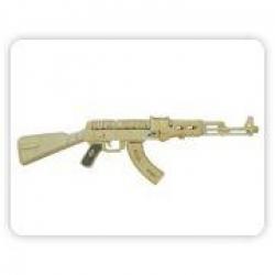 Drevená skladačka - Samopal AK-47 P205