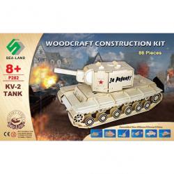 Dřevěná skládačka - Tank KV-2 P282