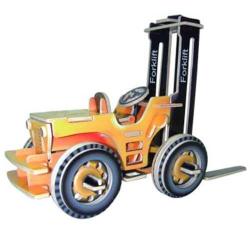 Drevené 3D puzzle skladačka autá - Vysokozdvižný vozík PC024