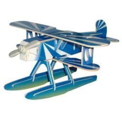 Drevené skladačky 3D puzzle lietadlá - Heinkel HE-51 PC058