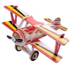 Drevené skladačky 3D puzzle lietadlá - Dvojplošník PC060