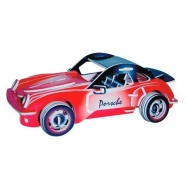 Dřevěné 3D puzzle dřevěná skládačka auta - Porsche PC066