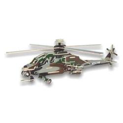 Drevené skladačky 3D puzzle lietadlá - Vrtuľník Apache PC072