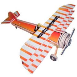 Drevené skladačky 3D puzzle lietadlá - Trojplošník PC074
