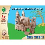 Dřevěná skládačka - Zámek Princezna PH026