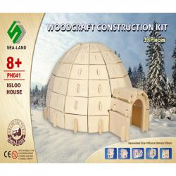 Dřevěná skládačka - Iglů  PH041