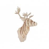 Drevené skladačky 3D puzzle - Hlava jeleňa