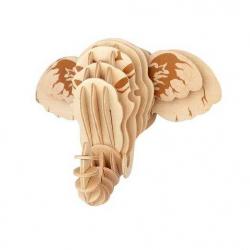 Drevené skladačky 3D puzzle - Hlava slona