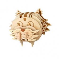 Drevené skladačky 3D puzzle - Hlava mačky