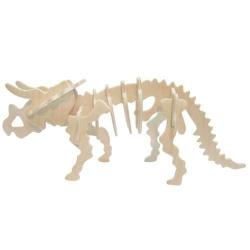 Drevené 3D puzzle skladačka - dinosaury Triceratops