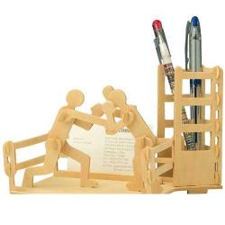 Drevené skladačky 3D puzzle - Stojanček na ceruzky Box S002