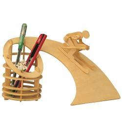 Dřevěné skládačky 3D puzzle - Stojan na tužky Sjezd S006