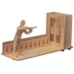 Dřevěné skládačky 3D puzzle Stojánek na tužky Střelba S022