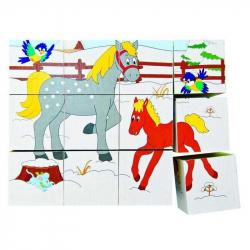 WOODY - Kubuś 3x4 - Zwierzątka i pory roku