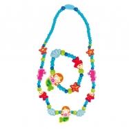 Set 6ks - Souprava náhrdelník a náramek -  Mořská panna