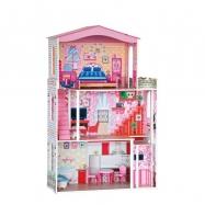 Domeček - velký, 7ks nábytku ( pro paneny typu Barbie)