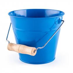 Záhradný kýblik - modrý, kov