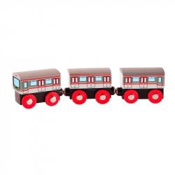 Pociąg Metro - kolejka drewniana