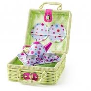 Piknik košík s čajovou soupravou, 8ks